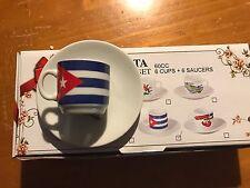 CUBAN FLAG COFFEE CUP SET