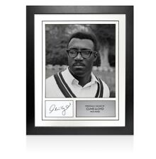 Framed Clive Lloyd Signed Autograph Card - West Indies Autograph