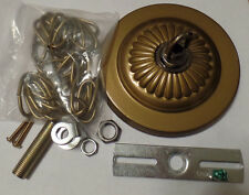 """5 1/4"""" Solid Brass Canopy Kit With 3' Chain Antique Brass Finish With Loop #836A"""