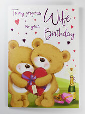 To My Gorgeous Wife Birthday Greeting Card & Envelope Seal Luxury Verse Quality