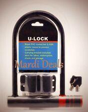 Universal Bike Bicycle Cycling Safety Steel U Lock & Mounting Bracket w/ 2 Keys