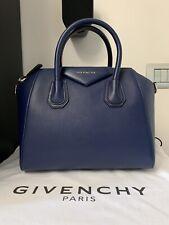 GIVENCHY ANTIGONA SMALL BAG BLUE ROYAL GOAT TOTE AUTHENTIC 100% HANDBAG TASCHE