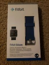 Genuine Fitbit Blaze Classic Replacement Accessory Band -Large - Blue - New
