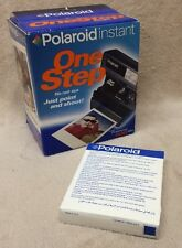 New Polaroid One Step 600 Instant Film Camera In Box With Unused Film Pack