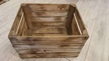 6 x Legno Bruciato tourched VINTAGE IN LEGNO MELA FRUTTA Crate RUSTICO vecchia scatola ingiustificata modestia