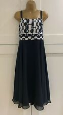 Stunning Roman Originals Black Special Occasion Floaty Dress Size 20 Worn Once