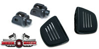 Kuryakyn Premium Black Front Mini Floorboard KIT Can-Am: '08-16 Spyder RS Models