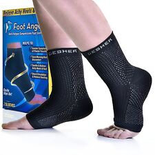Copper Compression Recovery Foot Sleeves / Plantar Fasciitis Support Socks - ...