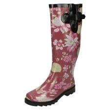 Calzado de mujer botas de agua de flores