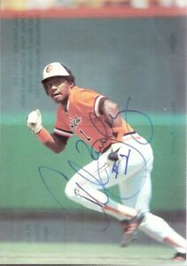 Autographed Al Bumbry Baltimore Orioles Outfielder Club-Issued Postcard LAST ONE