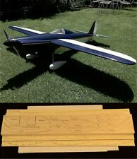 "69"" wingspan SHOESTRING R/c Plane short kit/semi kit and plans Electric Power"