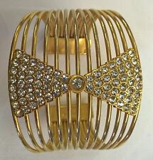 Bracciale Braccialetto Firmato MARGHERITA BUONANNO Design Vintage metallo dorato
