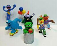 6 Sesame Street Muppets Figurines Vintage Applause Figures Bert Ernie Elmo 1