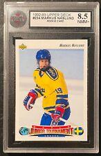 1992-93 Upper Deck #234 Markus Naslund RC Rookie Card KSA 8.5 NMM+ !