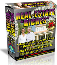 REAL ESTATE RICHES  PDF EBOOK FREE SHIPPING RESALE RIGHTS