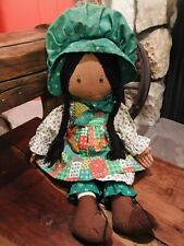 """1988 Holly Hobbie Holiday Collectors Edition Doll AmToy 18"""" AA"""