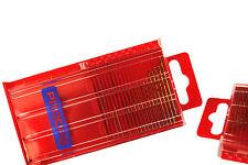 20 Pc Metric 0.3mm - 1.6mm Titanium Coated HSS Mini Micro Drill Bit Set M0201