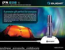 Olight I7R EOS Dual Output Rechargeable Titanium Keychain EDC Flashlight