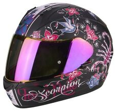 Casco Scorpion Exo-390 chica Matt Black-pink talla m