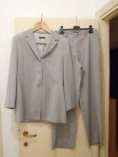 "Completo donna fresco lana (Giacca + Pantalone) Grigio Chiaro Tg. 46 ""CLASS"""