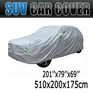 "SUV Full Car Cover Waterproof Sun UV Snow Dust Rain Resistant Protection 201"""