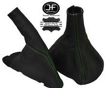 Verde Stitch se adapta a Opel Calibra todos años Cuero Gear Polaina + Freno De Mano
