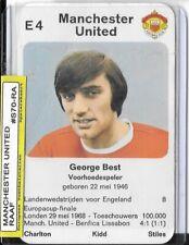 1970 George Best - RAAF - FOOTBALL quartet card MANCHESTER UNITED