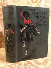 Roughriders of the Pampas by Brereton Fine Binding Antique South America Book