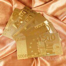 1 Satz Euro Goldene Farbe Folie Rechteck Legierung Gedenkmünze Münzen Samml B0N5