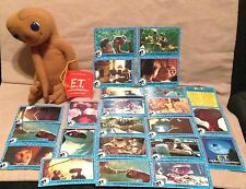 lot Vintage Old ET Stuffed Plush Toy Animal alien Trading Cards-movie-Spielberg