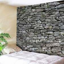 Stone Brick Decor Tapestry Bedspread Wall Hanging Living Room Home Decor Chic