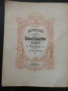 RICHARD WAGNER - Fantasie über Lohengrin für Klavier - Notenheft
