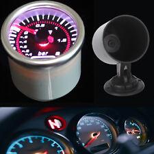"Pointer 2"" 52mm Car Smoke Len LED Bar Turbo Boost Vacuum Gauge + Pod Holder"