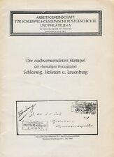 Die nachverwendeten Stempel der ehemaliger Herzogtümer Schleswig, Holstein