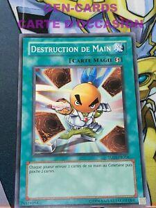 OCCASION Carte Yu Gi Oh DESTRUCTION DE MAIN TU01-FR014