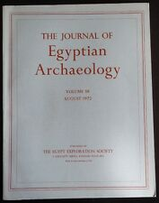 The Journal of Egyptian Archaeology Volume 58 1972 The Egypt Exploration Society