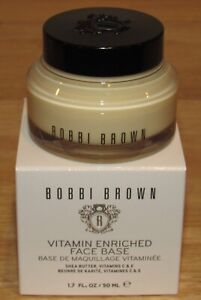 Bobbi Brown Face Base 1.7 Oz Vitamin Enriched NIB Moisturizer Full Size Jar