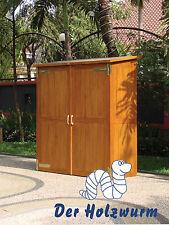 Gartenschrank Montevideo 145x65 cm Gerätehaus Geräteschuppen Hartholz Holz Neu