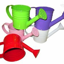 Mini White Metal Watering Can Manual Colorful Watering Can Small 1.2 Liter