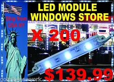 200 PCS COVER 100 FEET LED MODULE LIGHT STORE FRONT WINDOWS WATERPROOF OUT OR IN