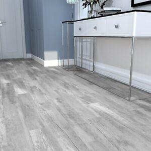 Light Grey Wood Effect Full Body Porcelain Tiles 90x15 Realistic Wood Texture