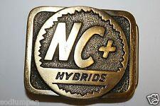 Original Vintage NC Hybrid Corn Seed Co. Brass Buckle Farming Rare Minty