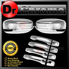 11-14 CHRYSLER 300 Triple Chrome Mirror w/ Light+4 Door Handle+Smart Hole Cover
