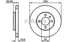 BOSCH Juego de 2 discos freno Antes 256mm ventilado SEAT 0 986 478 308