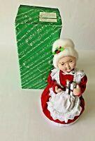 "San Francisco Music Box Co Mrs.Santa Claus Plays Wish You A Merry Christmas 13"""