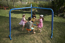 Merry Go Round Backyard Kids Play Ground Set 4 Seat Spin Toy Outdoor Gym Swing