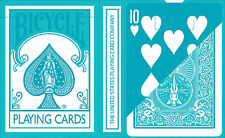 TURQUOISE REVERSED Bicycle Pastel deck Playing Cards aqua blue cute colour gaff