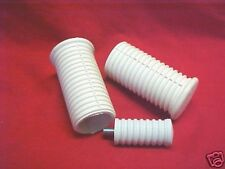 Harley,Sportster,57-85 Classic White foot pegs & shift rubber  **