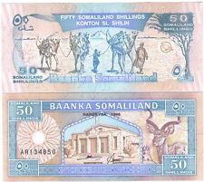 SOMALILAND 50 SHILLINGS 1996 PICK 7 UNC