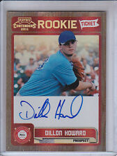 DILLON HOWARD 2011 PLAYOFF CONTENDERS ROOKIE TICKET AUTO